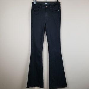 PAIGE Jeans High Rise Bell Canyon  Black Flare 27